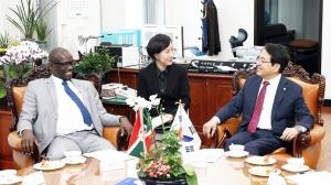 심재철 국회부의장, 은디쿠리요 부룬디 상원의장 면담