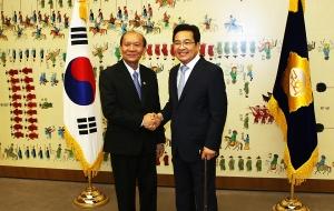 솜푸 두앙사반 라오스-한국 의원친선협회장 접견